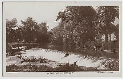 POSTCARD - On the Tyne at East Linton, Lothian, Scotland, real photo RP