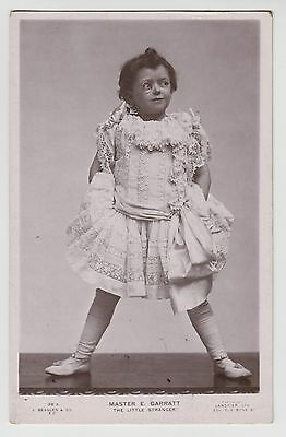 "POSTCARD - Edward Garratt, Edwardian child actor ""The Litte Stranger"" monocle"