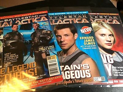 Battlestar Galactica Official Magazine Mini-series and Issues 1 and 2!