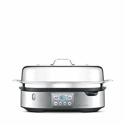 Breville- The Steam Zone -Double Unit Bfs800Bss Brushed Stainless Steel Bpa Free