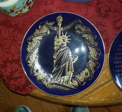 Blue Plates statue of liberty & We The people minted for the Bicentennial 1976.