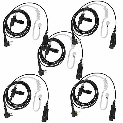 2-Pin PTT Mic Headset to 3.5mm Air Acoustic Tube Earpiece for Baofeng UV-5R X7X9