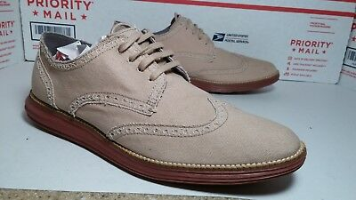 Awesome Light Weight Cole Haan Grand OS Wing Tips Mens Sz 10 - Free Shipping -