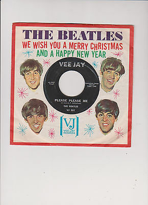 THE BEATLES * 1964 * EXTREM RARES US -COVER *We wish you a merry Christmas and