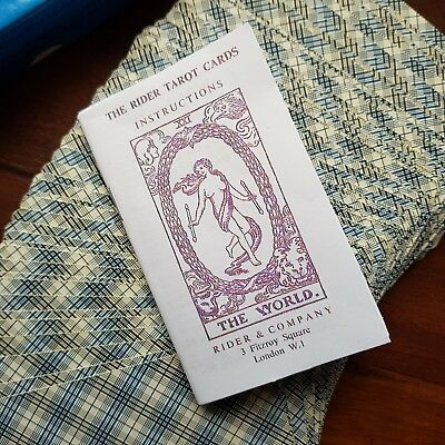 LWB Photocopy Of Rider & Company Vintage Tarot Cards Little White Book The World