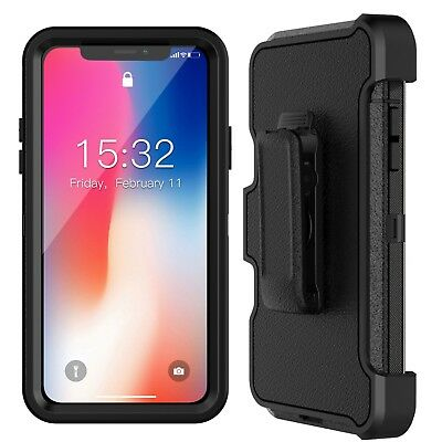 For Apple iPhone Xs X Case Cover with Belt Clip | Fits Otterbox DEFENDER SERIES