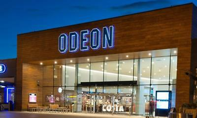Odeon cinema tickets Adult Std 2D only oustside M25 eticket - expires 31/10/2018