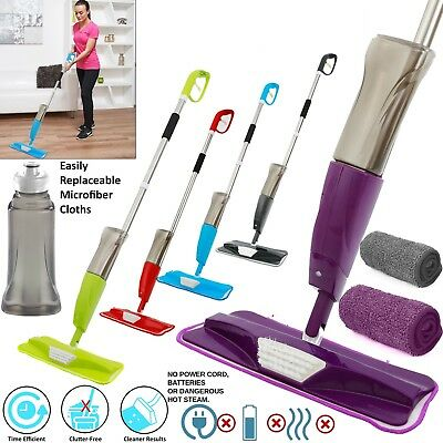 700ML Spray Mop Water Spraying Microfibre Floor Tiles Marble Cleaner Kitchen