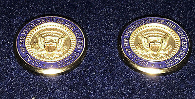 TwoPresidential Seal George Bush  White House gifts Cufflinks