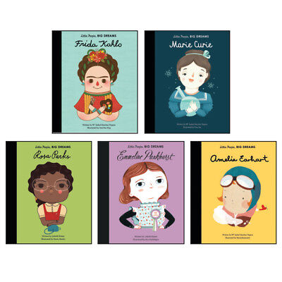 Little People Big Dreams Collection of 5 Books (RRP £29.95) Frida Kahlo, Pankhur
