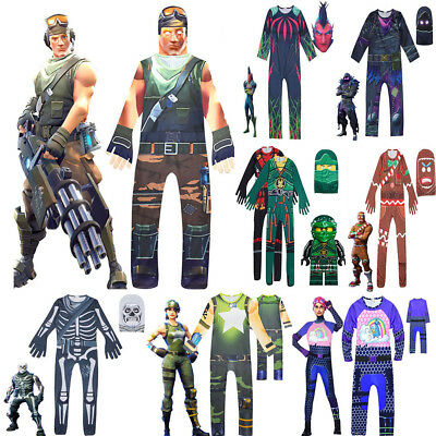 Kids Cosplay Costume Halloween Skull Trooper Merry Marauder Jumpsuit Outfits AU