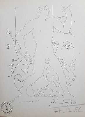 Picasso Pablo Vollard Suite Lithograph hand Signed & stamp