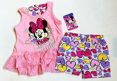 2pcs Girls Kids Toddler T shirt and Skirt Outfits Clothing sets Minnie Disney