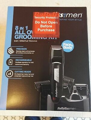 Babyliss for Men 8 in 1 All Over Grooming Kit Cordless Rechargeable Face & Body