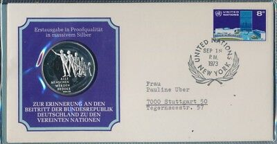 Germany 1973 PNC Silver Medallion Accession to the United Nations