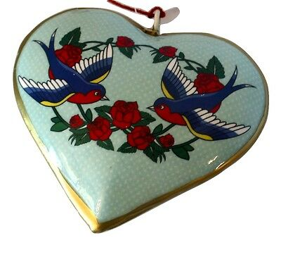 Robins Love Letter Heart  Ornament-Holiday!