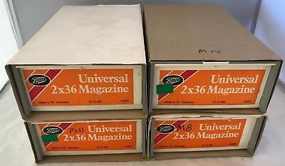 4 x Vintage Boots Universal 35mm Photo Slide Storage Boxes & Straight Magazines