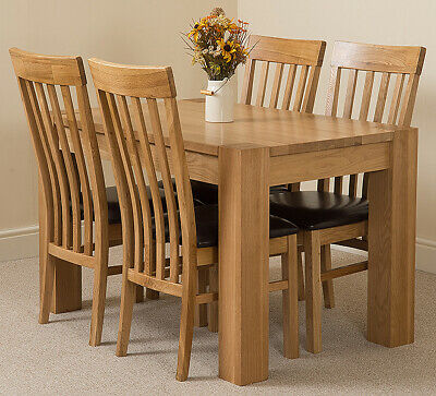 Pleasing Small Oak Dining Table And Chair Kuba With Harvard Oak And Creativecarmelina Interior Chair Design Creativecarmelinacom