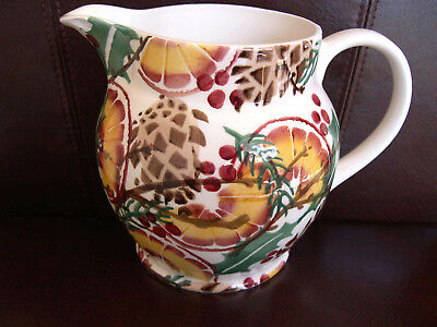 Emma Bridgewater Large Jug Holly Wreath 1.5 Pint New But Small Chip Under Spout