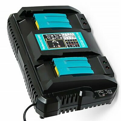 Double Battery Charger For Makita 14.4V 18V BL1830 Bl1430 DC18RC DC18RA