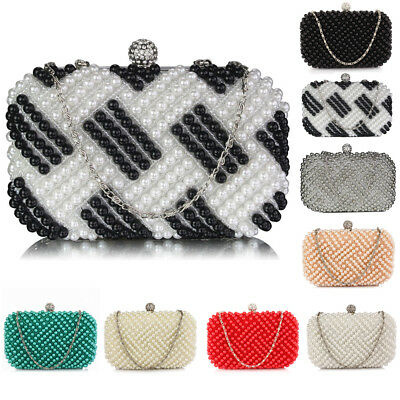 Womens Gift Packed Hard Case Clutch Sparkly Diamante Crystal Wedding Evening Bag