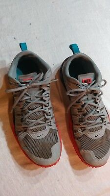 ef7b3274cbbb Nike Lunar TR1 Gray Orange Flywire Trainer Athletic 652808-005 Men s 13