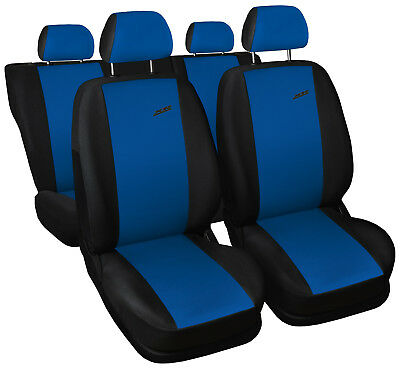 Car seat covers fit Toyota Prius - XR black/blue full set sport style