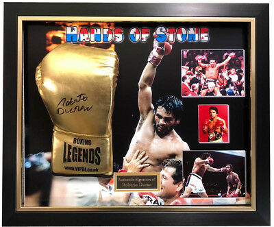Roberto Duran SIGNED AUTOGRAPH Boxing Glove AFTAL UACC RD