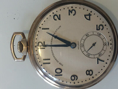 9 ct gold cased Sheffield Goldsmiths Co. Ltd, pocket watch with engraved AO 1907
