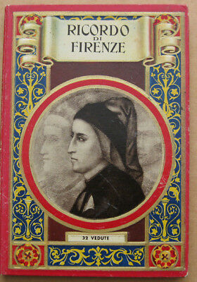 Ricordo di Firenze 32 Vedute - Vintage Foldout book of photos c1920s