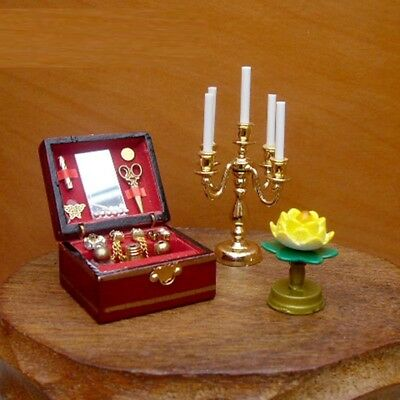 1/12 Dollhouse Miniatures Jewelry Box / Doll Room Decoration House Accessories