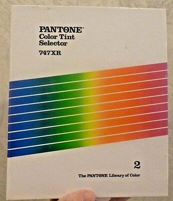 Vintage 1987 PANTONE Book Color Tint Selector 747XR Coated & Uncoated Pages