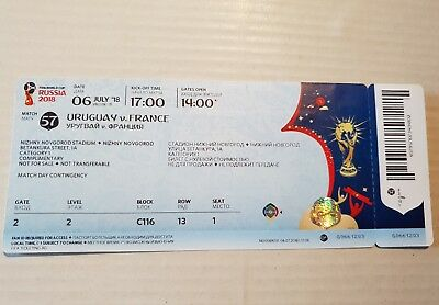 Top Ticket FIFA World Cup 18 #57 Uruguay France Frankreich with Names