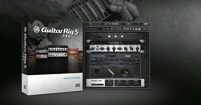 GUITAR RIG 5 PRO STANDALONE AND PLUGIN VST SOFTWARE - WINDOWS OR MAC + Extras!