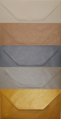 DL Envelopes For Greeting Cards Party Wedding Invitations & Crafts Gold Silver