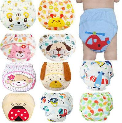 Cute Baby Diaper 1Pcs Reusable Nappies  Diapers Washable  Children Baby Cotton