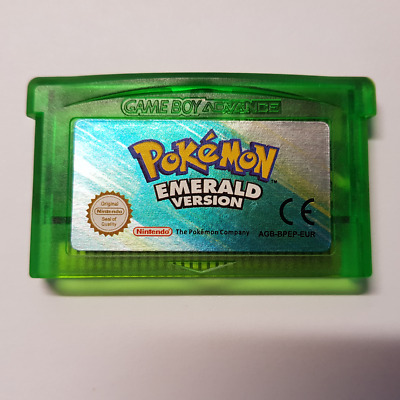 POKEMON EMERALD GBA - EUR Version - NEW BATTERY - WITH COVER