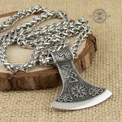 Viking Necklace Norse Axe Stainless Steel Jewellery Pendant
