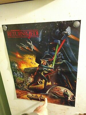 RETURN OF THE JEDI Original PROMO Hi-C POSTER Star Wars Double Sided GIVEAWAY 83