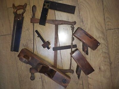 Vintage Carpenter's Job Lot Of Wooden Tools