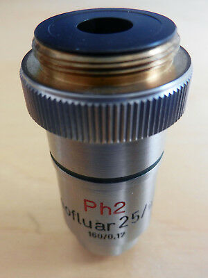 Rarely seen Zeiss Neofluar 25x/0.60 Ph 2 objective
