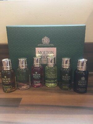 MOLTON BROWN 6 PIECE BATH & SHOWER WASH COLLECTION 6 x 30ml ~ Gift Boxed ~