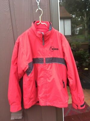 Northwest Airlines 3 in 1 Jacket Red mens small
