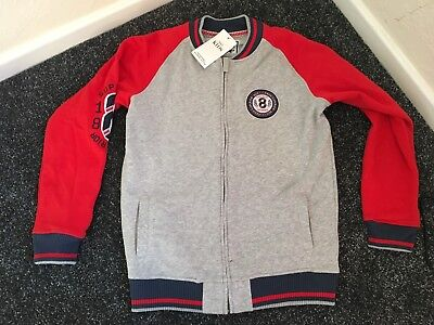 boys marks and spencer grey And Red bomber jacket age 13-14 years New