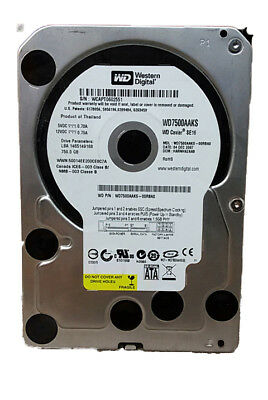 "Lot of 2 Western Digital  WD Caviar SE16 WD7500AAKS 750GB 3.5"" SATA II Desktop"