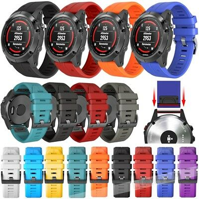 For Garmin Fenix 3 5X 5 Plus S60 3HR Replacement Silicone Wrist Watch Band Strap