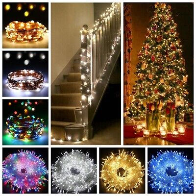 LED String Fairy Lights Micro Rice Wire Battery Solar Xmas Party Gift Lamp ATG