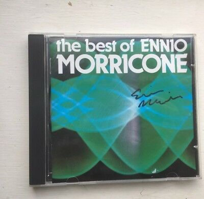 "Ennio Morricone Hand Signed CD Album  ""The Best Of Ennio""  Autograph of Composer"