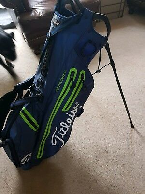 TITLEIST GOLF PLAYERS 4 STADRY Stand Carry Bag, Blue/ Lime Green