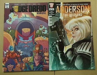Judge Dredd x2 Comics Annual #1 2017 & Anderson The Deep End Movie Sequel